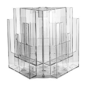 Tisch-Ablageregal / für Broschüren / Kunststoff / drehend