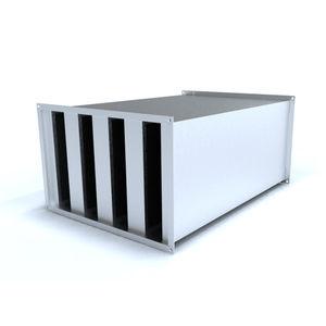 Lärmdämmer für Ventilation / verzinkter Stahl / Wolle