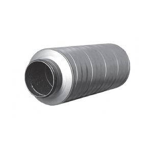 Lärmdämmer für Ventilation / Stahl / Wolle / verzinkt