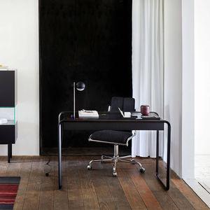 Schreibtisch aus Eiche / Holzfurnier / aus Nussbaum / modern