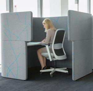 bodenstehende Bürotrennwand / Akustikstoff / schallisoliert