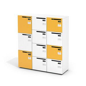 Metall-Garderobenschrank / Zahlen / für öffentliche Einrichtungen / für Büro