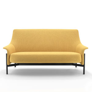 modernes Sofa / Stoff / thermolackierter Stahl / Objektmöbel