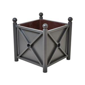 Stahlblech-Pflanzkübel / verzinkter Stahl / Polyester / rechteckig
