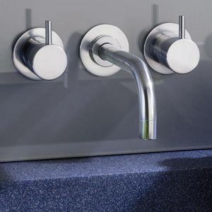 Mischbatterie für Waschtisch / Einbau / Edelstahl / für Badezimmer