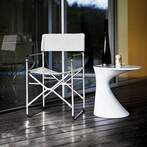 moderner Stuhl / mit Armlehnen / Klapp / mit abnehmbarem Bezug