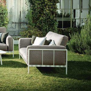modernes Sofa / Außenbereich / abperlendes Gewebe / Leder