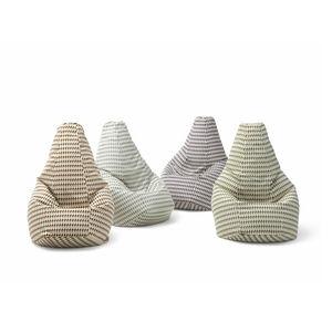 Sitzsack / originelles Design / Stoff / Leder / mit abnehmbarem Bezug