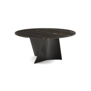 moderner Tisch / Marmor / Cristalplant® / Verbundwerkstoff