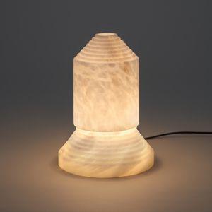 Tischlampe / originelles Design / Alabaster / dimmbar
