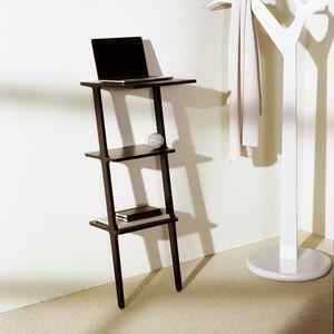 Computertisch / skandinavisches Design / Holz / mit Fußgestell aus Holz / rechteckig