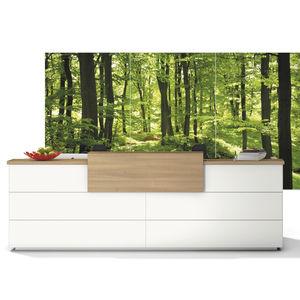 Empfangstheke für Eckeinbau / modular / Holz / Laminat