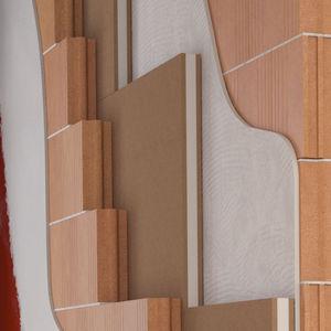 Isolierung zur Schalldämmung / Polypropylen / aus Holzfaser / zur Wanddickenmessung