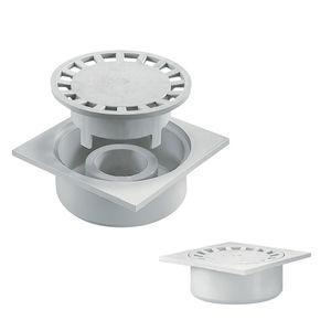 Polypropylen-Bodenablauf / für Duschen / quadratisch