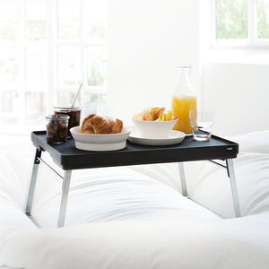 Edelstahl-Serviertablett / Kunststoff / Aluminium / für Hotelzimmer