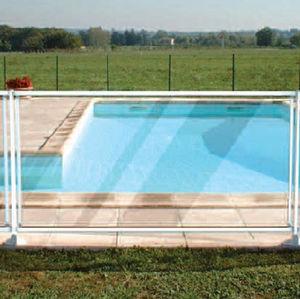 Schutzabsperrung / feststehend / Glas / für Schwimmbecken