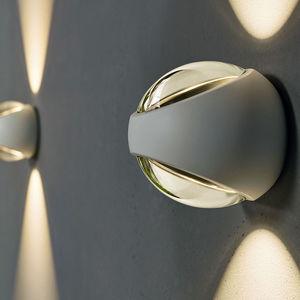 moderne Wandleuchte / Außenbereich / Aluminium / Glas