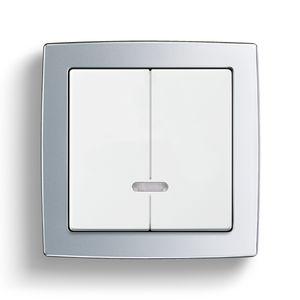 Lichtdimmer / Drucktaster / Einbau / doppelt