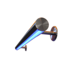 Edelstahl-Handlauf / integrierte LED-Beleuchtung