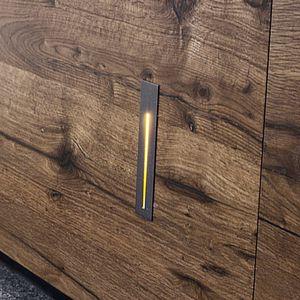 Leuchte für Wandeinbau / LED / linear / Aluminium