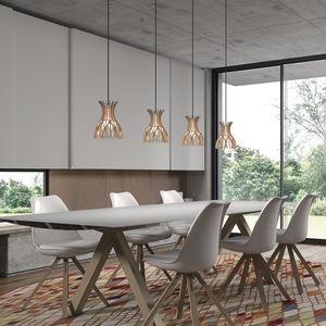 Hängelampe / modern / Aluminium / Holz