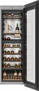 Einbau-Weinkühlschrank / Metall / Holz / Glas