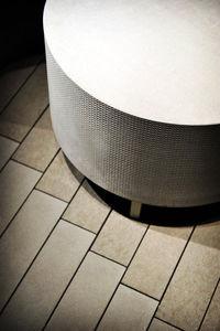 moderner Sitzpuff / Stoff