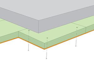 thermo-akustische Isolierung / aus Holzwolle / für Böden / in Plattenform