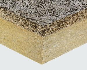 hochleistungsfähiger Wärmedämmungskomplex / Isoliermaterial aus Spanplatte / Steinwollekern / 1 Holz-Deckschicht