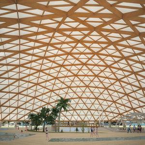 Holz-Dachstuhl / Lamellen / Dachbinder / für Überdachung / für öffentliche Bereiche