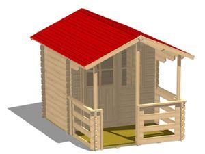Garten-Blockhaus / Holz / traditionell