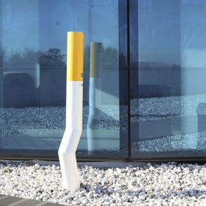 Sockel-Ascher / Edelstahl / für den Außenbereich / für öffentliche Bereiche
