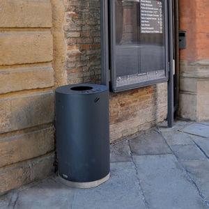 Park-Abfallbehälter / verzinkter Stahl / COR-TEN®-Stahl / modern