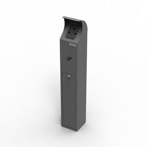 Sockel-Ascher / verzinkter Stahl / für den Außenbereich / für öffentliche Bereiche