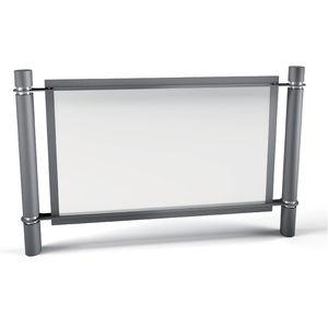 Schutzabsperrung / feststehend / verzinkter Stahl / für öffentliche Bereiche