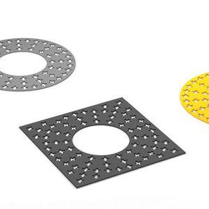 Stahl-Baumgitter / quadratisch / rund