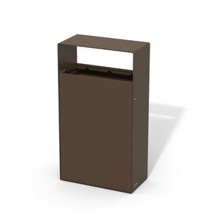 Park-Abfallbehälter / wandmontiert / verzinkter Stahl / Holz