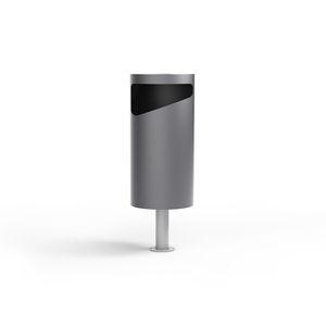 Park-Abfallbehälter / bodenstehend / Edelstahl / Stahl