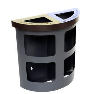 Park-Abfallbehälter / wandmontiert / Stahl / modern