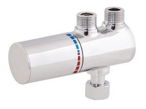 Einhebelmischer für Waschtisch / wandmontiert / Messing / thermostatisch