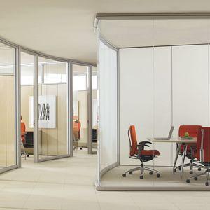 festinstallierte Trennwand / verglast / zur beruflichen Nutzung / Büro