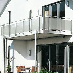 Glasplatten-Balkon