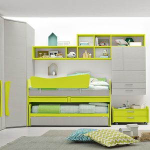 grünes Kinderzimmer / lackiertes Holz / unisex