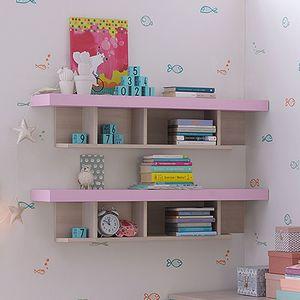 wandmontiertes Regal / modern / lackiertes Holz / für Kinder