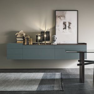 wandmontiertes Sideboard / modern / Holz / Melamin