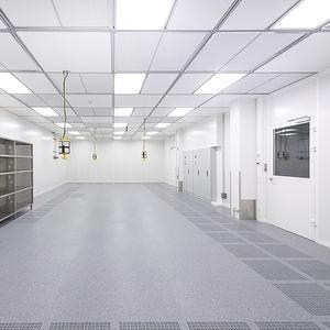 Aluminium-Doppelboden / feuerfest / Innenraum / für Reinraum