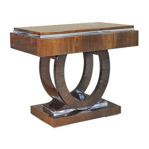 klassischer Nachttisch / Holz / mit Fußgestell aus Holz / rechteckig