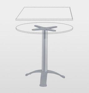 Aluminium-Fußgestell / modern / Objektmöbel