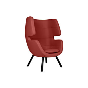 moderner Sessel / Stoff / aus Esche / Ohren