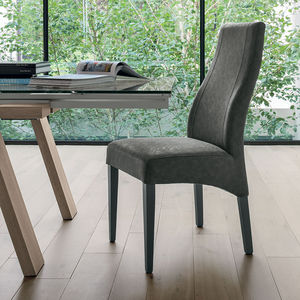 Vintage-Stuhl / Polster / Holz / grau